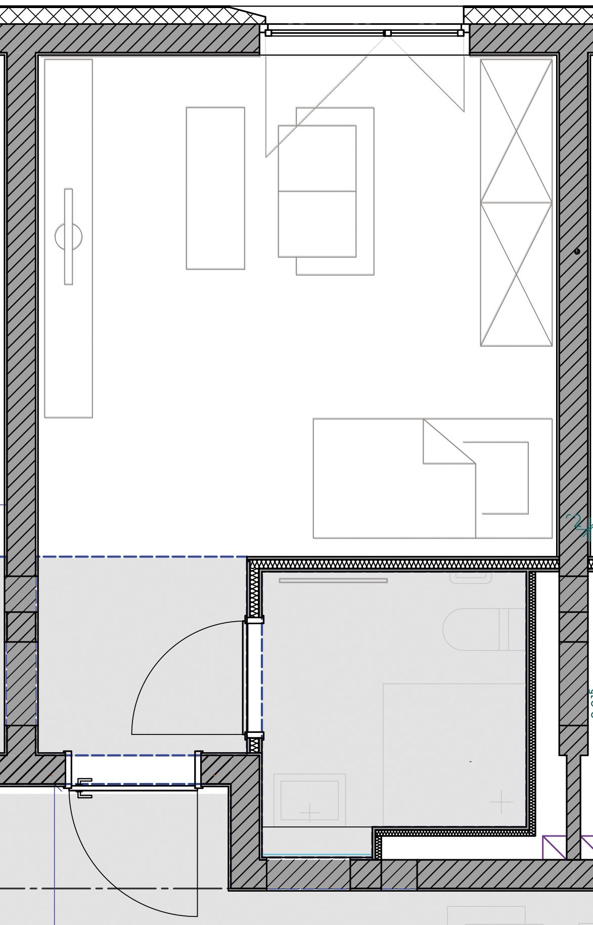 Beispielgrundriss für ein WG-Apartment